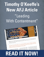 AFJ Article by Tim O'Keeffe Leading with Contentment