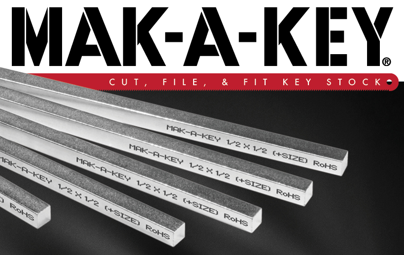 MAK-A-KEY Precision Key Stock - Cut, File & Fit!