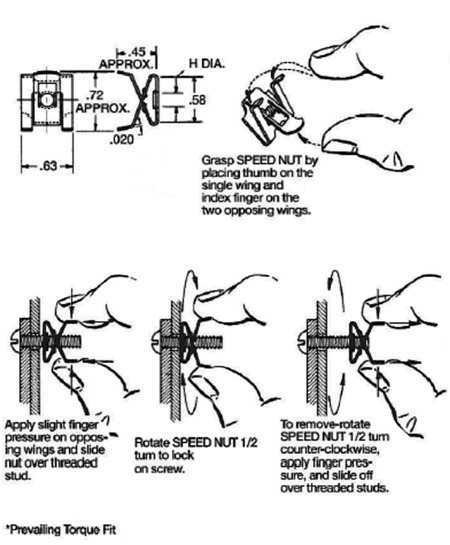 pinch-release bolt retainer instructions