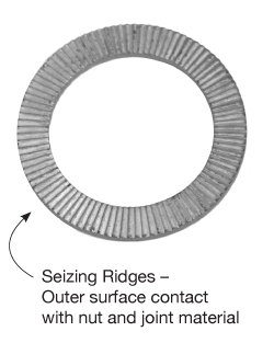 Seizing Ridges on Locking Washers