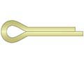 Cotter Pin 1/4 x 3 Carbon Steel Zinc Yellow